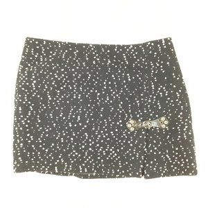 CYNTHIA CYNTHIA STEFFE Black White Skirt Tweed 10